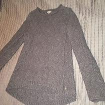 Eddie Bauer Heather Grey Cable Knit Sweater Photo