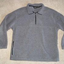 Eddie Bauer Jacket Coat Fleece Gray Pullover Medium Free Shipping Photo