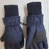Eddie Bauer Men Blue Snowboarding Ski Gloves Mittens Thinsulate  Photo