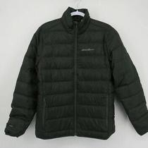 Eddie Bauer Mens Microlight Ii Packable Jacket- Black-  Size 2xl-  Down Fill Photo