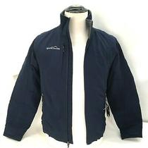 Eddie Bauer Mens Xs Jacket Columbus Zoo Patch on Back Surfing Blue New Photo