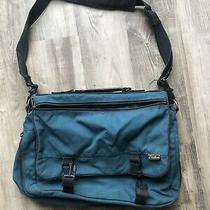 Eddie Bauer Messenger Laptop Briefcase Shoulder Crossbody Bag Teal Canvas   Photo