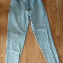 Eddie Bauer Mom Jeans High Waist Tapered Blue Denim Sz 12 (31 X 32) Vintage Photo