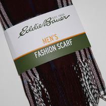 Eddie Bauer Nwt Men's Burgundy Navy White Plaid 72