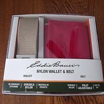 Eddie Bauer Nylon Wallet and Belt Gift Set Photo