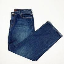 Eddie Bauer Shaped Fit Jeans Size 16r Boot Cut High Waist Dark Wash Denim Pants Photo