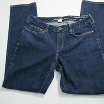 Eddie Bauer Slightly Curvy Fit Straight Leg Women's Size 12 Blue Denim Jeans Photo