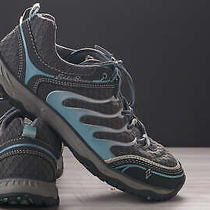 Eddie Bauer Sneakers Hiking Trail Walking Shoes Womens Sz 6.5 Blue Silver Photo