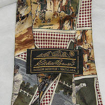 Eddie Bauer Sports Tie (Nwo) All Silk / Hand Painted in Italy Photo