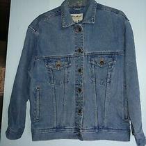 Eddie Bauer Vintage Women's Jean Jacket Denim Size S/p Photo
