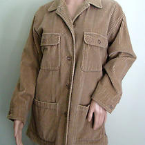 Eddie Bauer Wide Wale 4 Pocket Corduroy Lined Barn Jacket Coat Tan Camel S (S/m) Photo