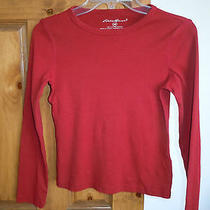 Eddie Bauer Women's Casual Crewneck Shirt Top Size Xs - Red Photo