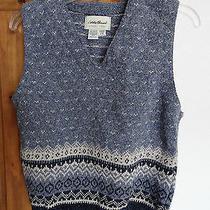 Eddie Bauer Women's Casual Sleeveless v-Neck Sweater Vest Size L  Photo