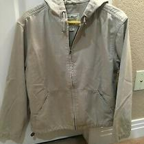 Eddie Bauer Women's Khaki Tan Mid-Weight Hoodie/jacket Size Medium  Great Shape Photo