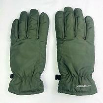 Eddie Bauer Women's Lodge Winter Gloves Down Filled Size Large Hunter Green Photo