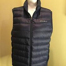 Eddie Bauer Womens Navy Puffer Vest Size Medium Photo