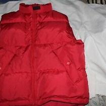 Eddie Bauer Women's Red Goose Down Puffer Vest Jacket Zip Up Size Sp Vintage 38 Photo