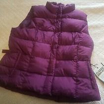 Eddie Bauer Womens 550 Goose Down Quilted Vest Jacket Size Xxl Purple  New Photo