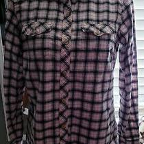Eddie Bauer Womens Plaid Long Sleeve Button Down Shirt Photo