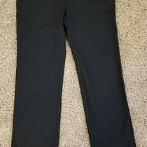 Eddie Bauer Womens Slighty Curvy Fit Dress Pants Black Stretch Size 6 Nwt Photo
