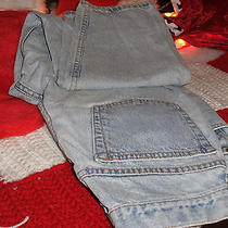 Eddie Bauer Work Jeans Paint Stains Size 12p S23 Photo
