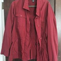 Eddie Bauer Xl Cotton/nylon Barn Red Lightweight Jacket Photo