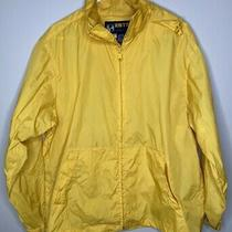 Eddie Bauer Yellow Mens Medium Jacket Packable Ebtek Sac Jac Photo