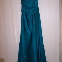 Edenmaids Aqua Blue Bridesmaid Gown or Prom Dress Size 10 Photo