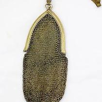 Edwardian Antique 1900s Whiting & Davis Gold Mesh Purse Wrist Strap Photo