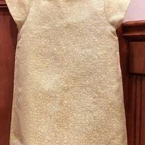 Eeuc Baby Gap Girls Dress Yellow Silver Brocade Shinny Size 2 Stunning Photo