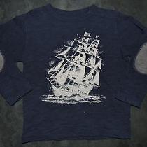 Eeuc Baby Gap Navy Blue Pirate Ship Graphic Shirt Top Size 3 Photo
