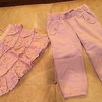 Eeuc Pink Layered Lace Top and Silky Harem Pants Amazing 3t Girl Babygap Photo