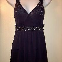 Eggplant Purple With Gold Womens Express Tank Preowned Size Xs Photo