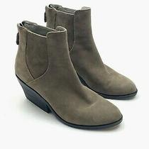 Eileen Fisher 280 Suede Leather Peer Ankle Booties Boots Shoes Size 5.5 Photo