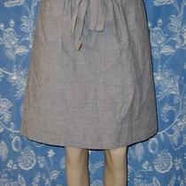 Eileen Fisher Adorable Blue Chambray Elastic Waist Cotton Tie Skirt Nwt Xl Photo