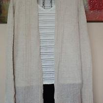 Eileen Fisher Beige Lightweight Cardigan Sweater Jacket 1x E729-9 Photo