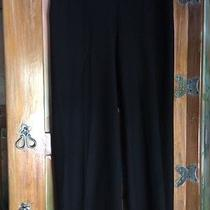 Eileen Fisher Black Stretch Smooth Crepe Knit Cropped Pants Size Medium Cj Photo