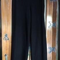 Eileen Fisher Black Stretch Smooth Crepe Knit Pants Size Petite Large Cj Photo
