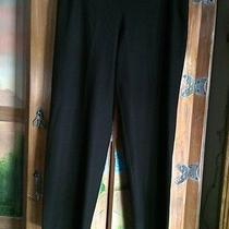 Eileen Fisher Black Stretch Smooth Knit Crepe  Pants Size Petite Medium Cj Photo