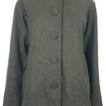 Eileen Fisher Brown 100% Wool Button Front Jacket Ladies Petite Small Photo