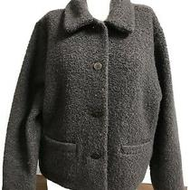 Eileen Fisher Dark Brown Wool Boucle Textured Boxy Jacket Mint/euc M Photo