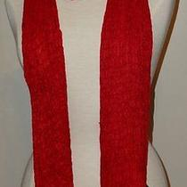 Eileen Fisher Handloomed Artisinal Puckered Silk Scarf Lacquer /red Nwt 168 Photo