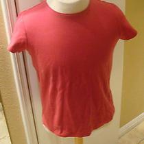Eileen Fisher Hot Pink Cotton Tshirt  Cotton Sz M Photo
