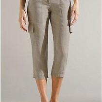 Eileen Fisher Natural Linen Cargo Capri Pants 4 New With Tag 168 Photo
