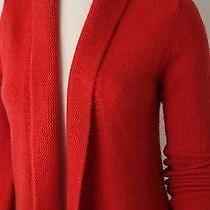 Eileen Fisher Shawl Collar Cardigan Sweater Size S 100%Cashmere Orange Photo