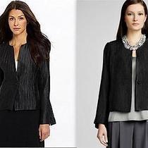 Eileen Fisher Silk Groove Graphite Jacket S Photo