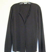 Eileen Fisher Single Button Jacket Topper Black-Brown M Photo