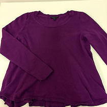 Eileen Fisher Sweater Short Purple Sweater Pm  Photo