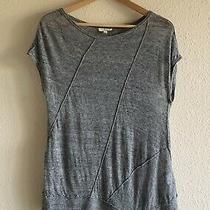 Eileen Fisher Womens Short Sleeve Knit Linen Sweater in Gray Size Xs Photo