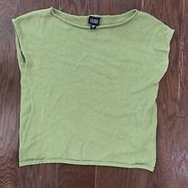 Eileen Fisher Womens Sleeveless Top Green Size M Photo